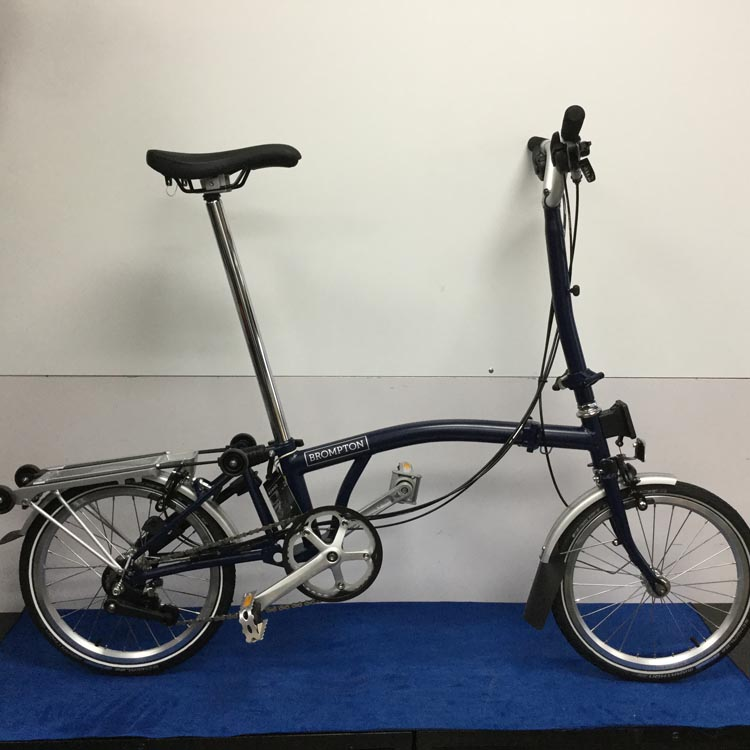40c4b8be2 2017 Brompton Folding Bicycle H6R Tempest Blue